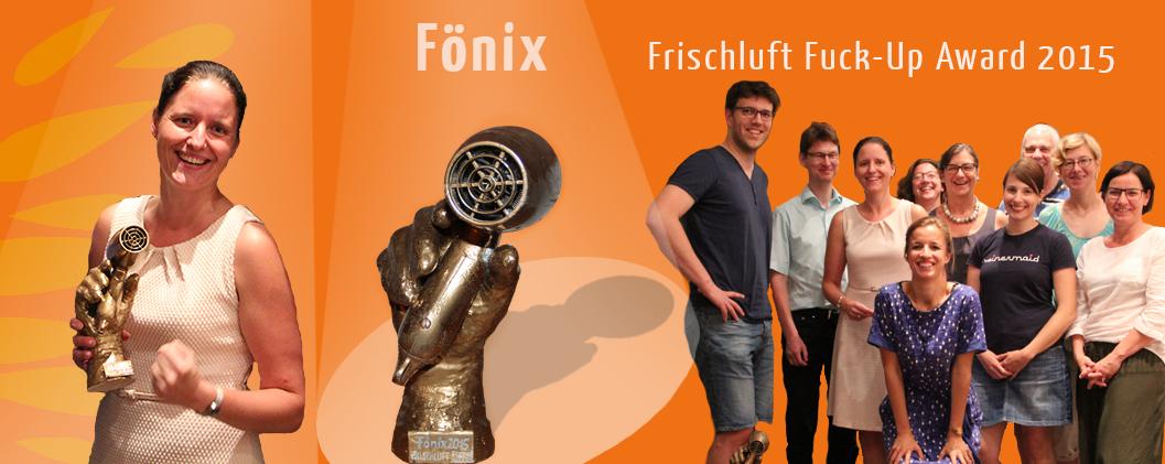 Frischluft Fuckup Award Preis Mut Scheitern Zufriedenheit erste Schritt Nachtreffen Alumni Fönix Haltung